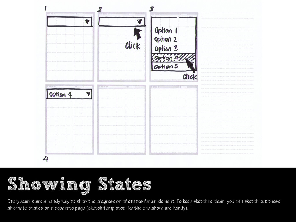Showing States Storyboards are a handy way to s...