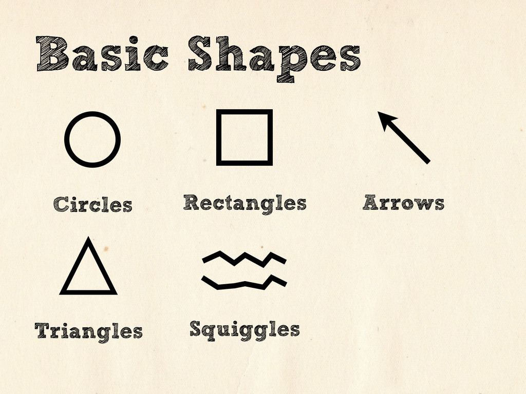 Circles Rectangles Arrows Basic Shapes Triangle...