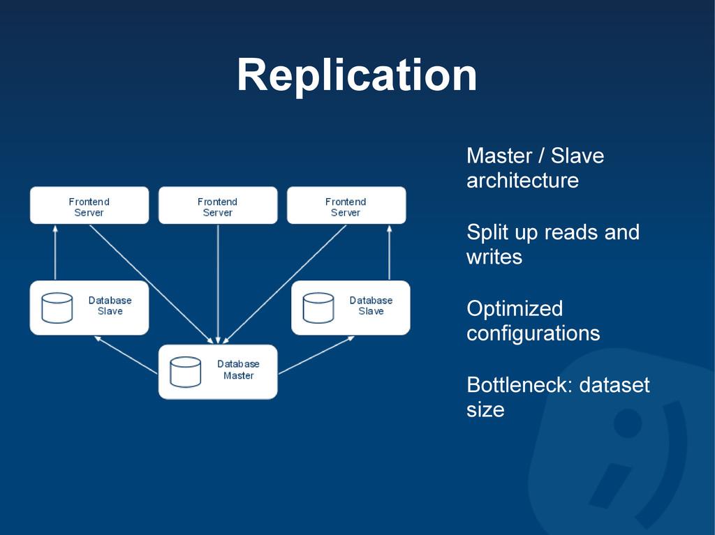 Replication Master / Slave architecture Split u...