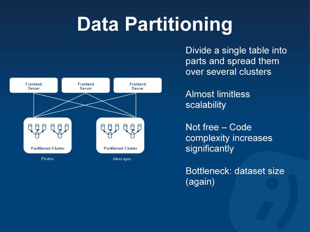 Data Partitioning Divide a single table into pa...