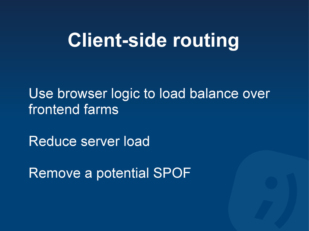 Client-side routing Use browser logic to load b...
