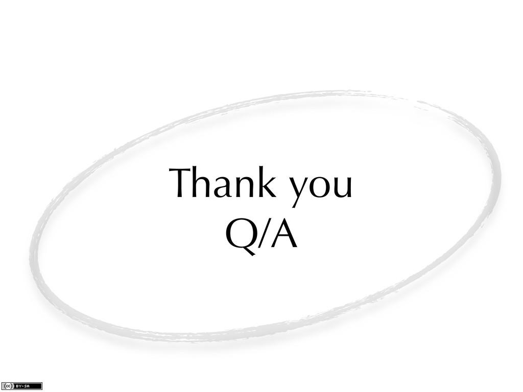 Thank you Q/A