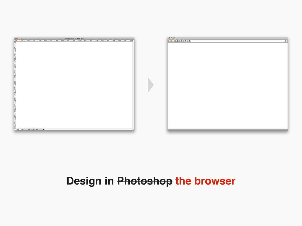 Design in Photoshop the browser
