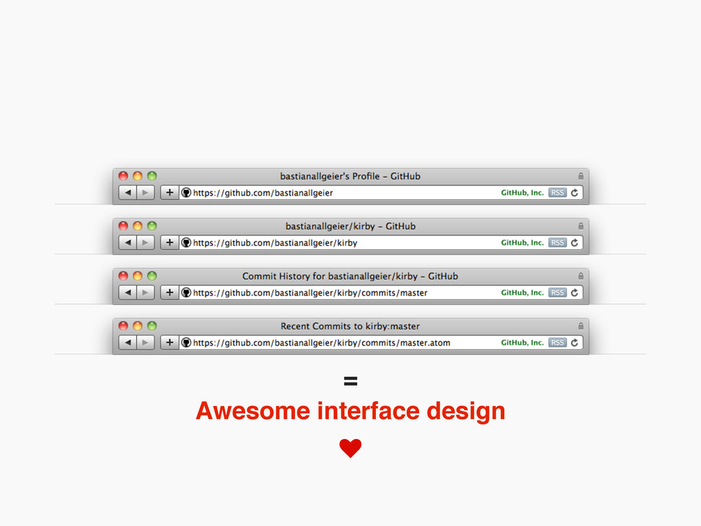 Awesome interface design =