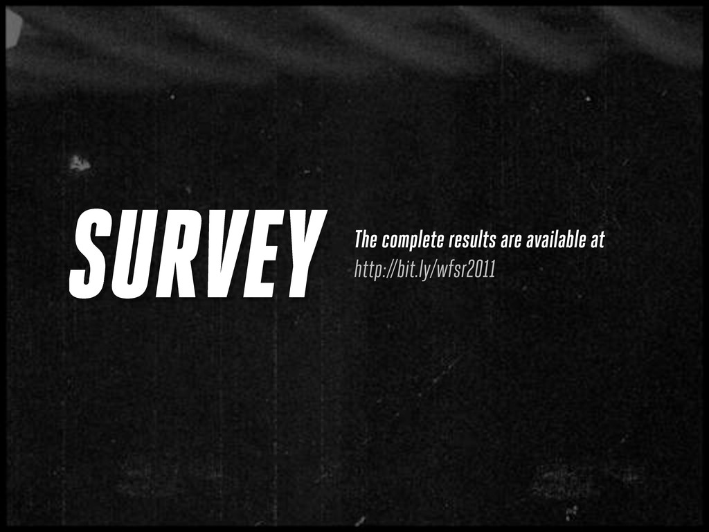 SURVEY The complete results are available at ht...