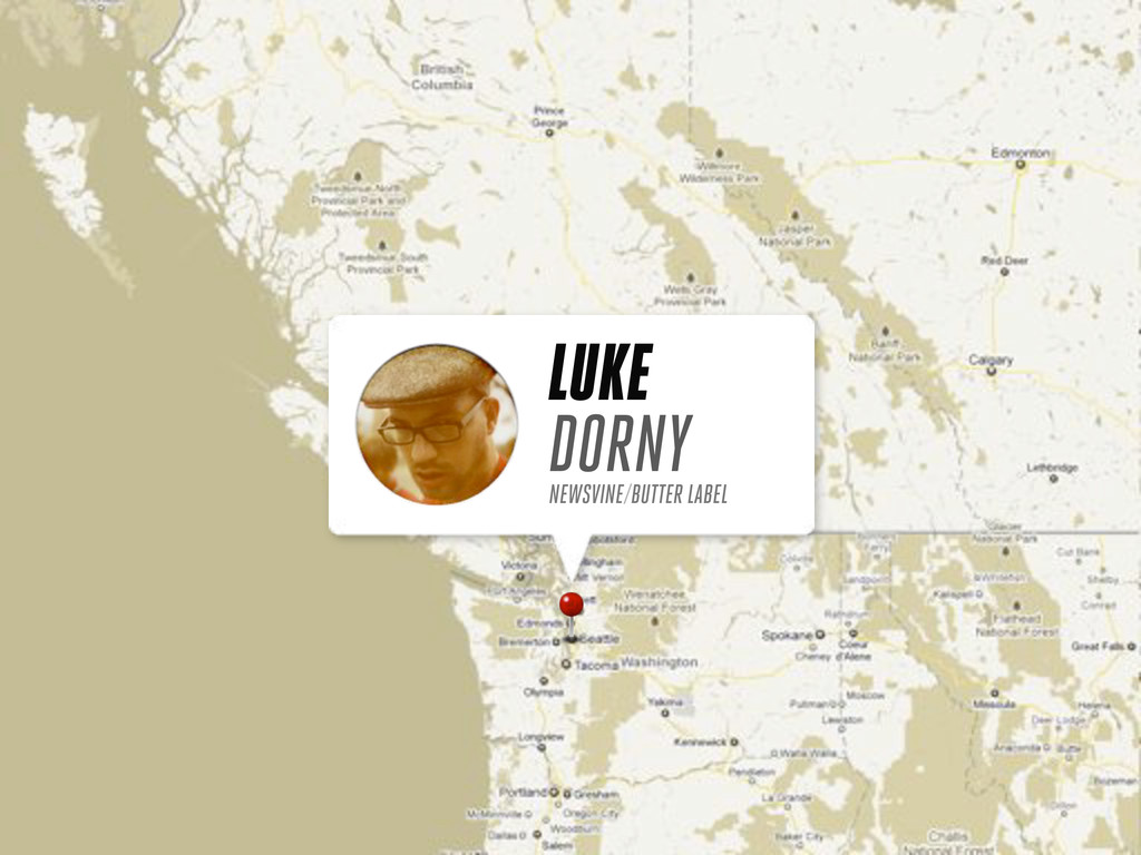 LUKE DORNY NEWSVINE/BUTTER LABEL