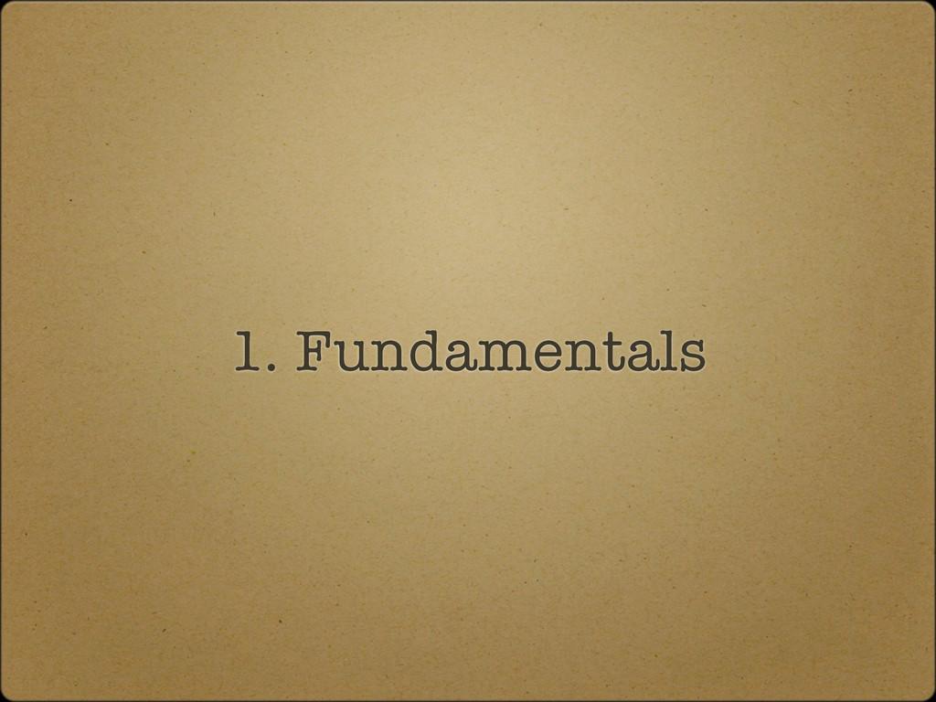 1. Fundamentals