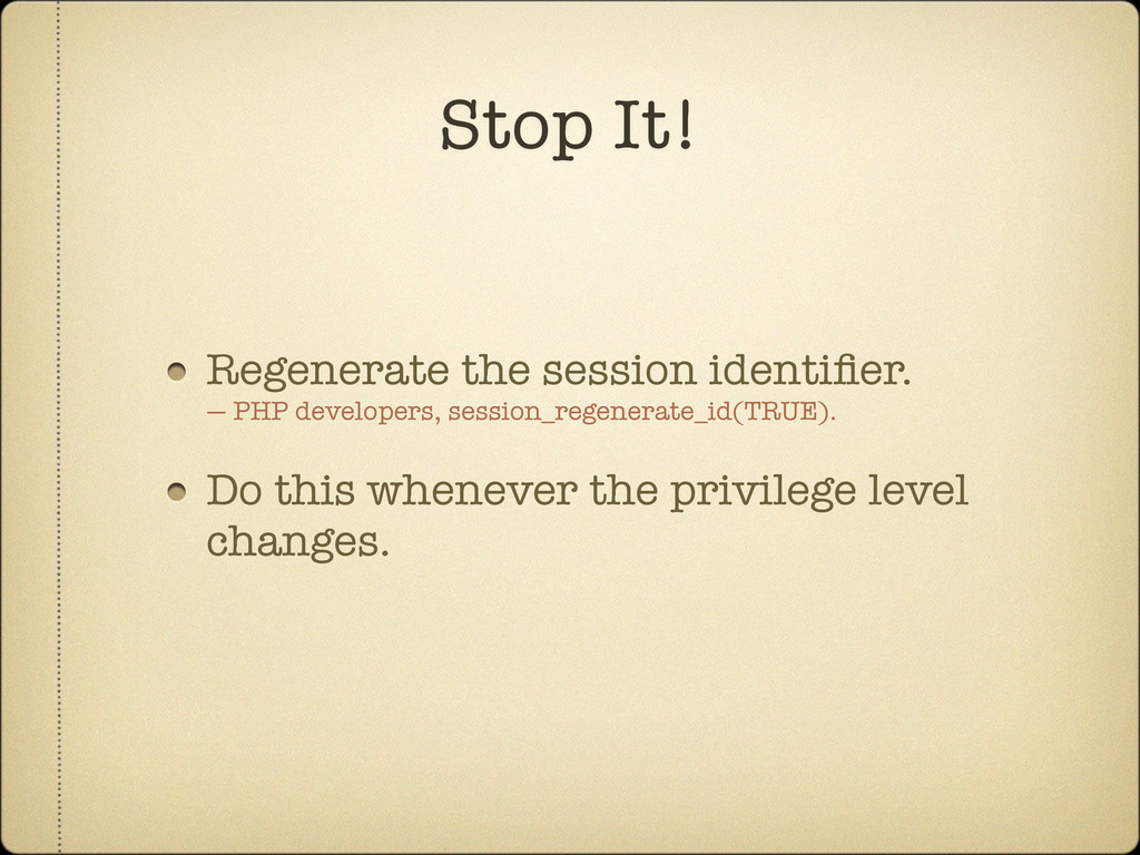 Regenerate the session identifier. — PHP develop...