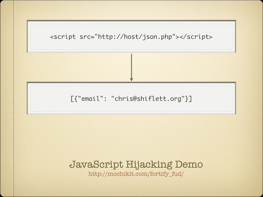 """<script src=""""http://host/json.php""""></script> [{..."""