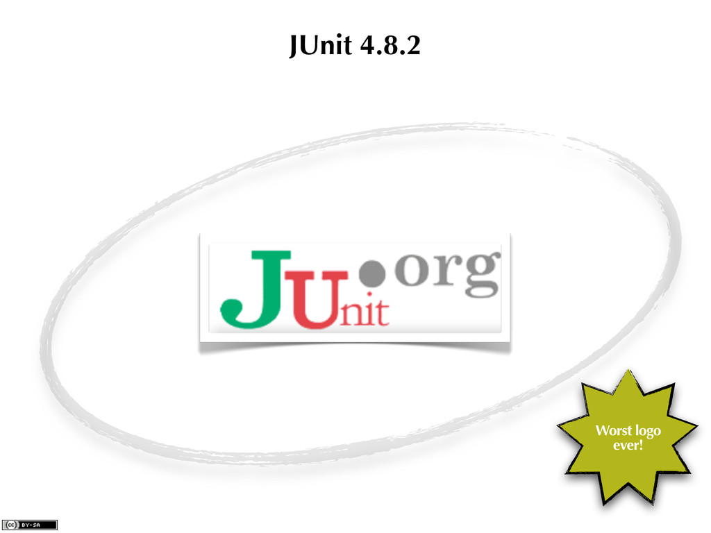JUnit 4.8.2 Worst logo ever!