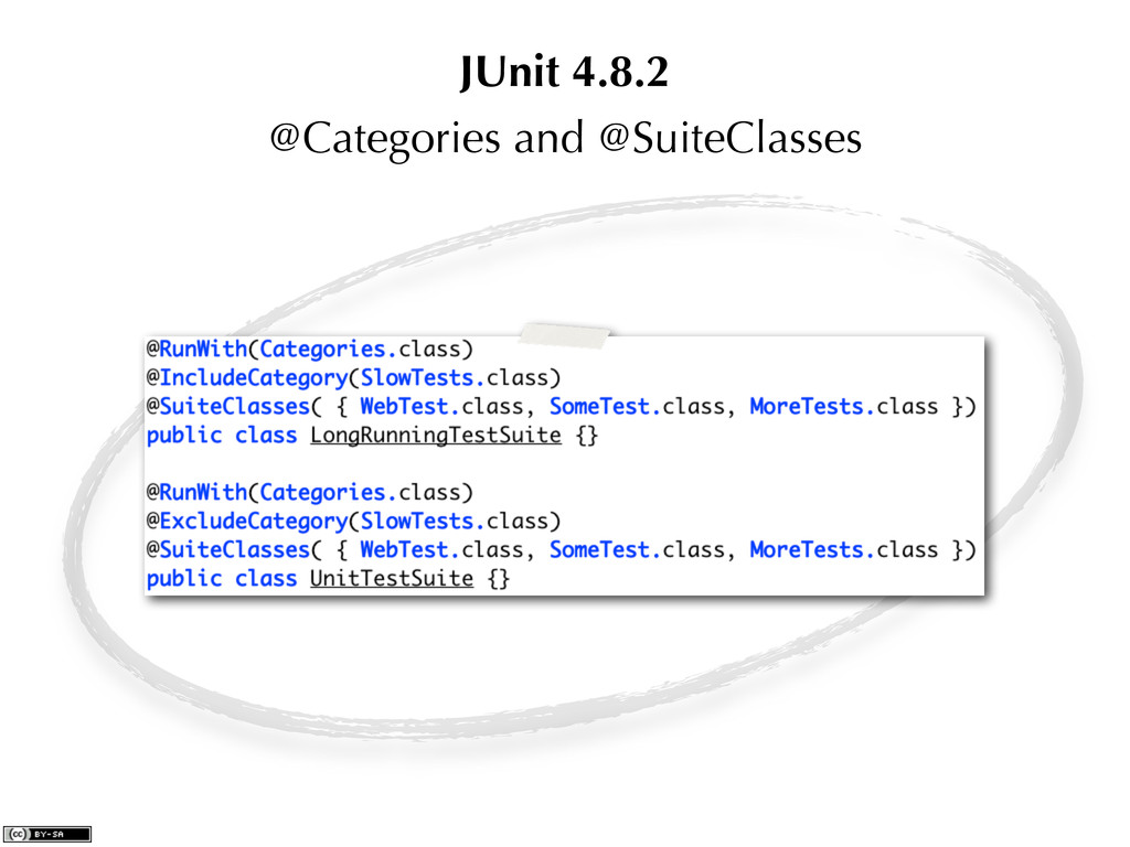 @Categories and @SuiteClasses JUnit 4.8.2