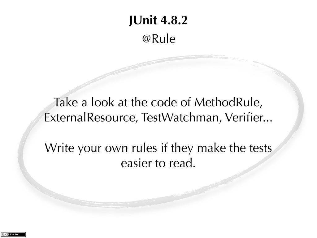 @Rule Take a look at the code of MethodRule, Ex...