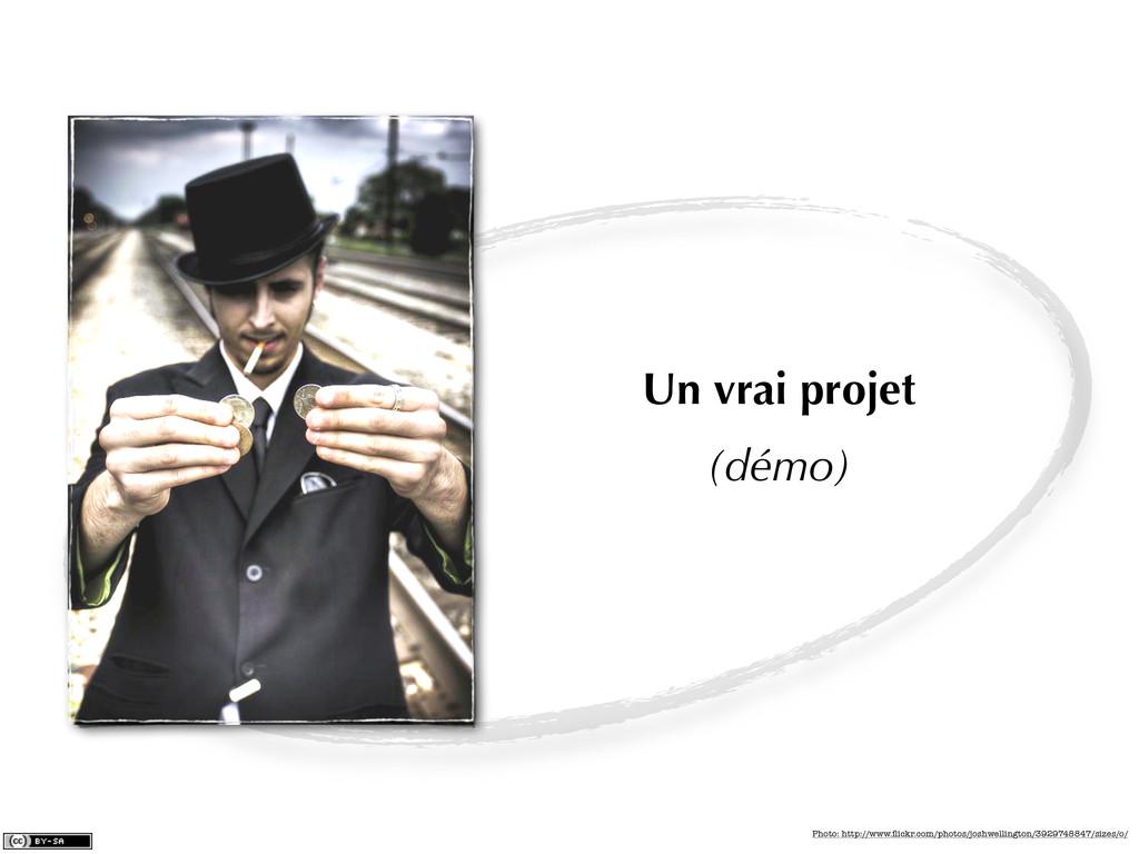 Un vrai projet (démo) Photo: http://www.flickr.c...