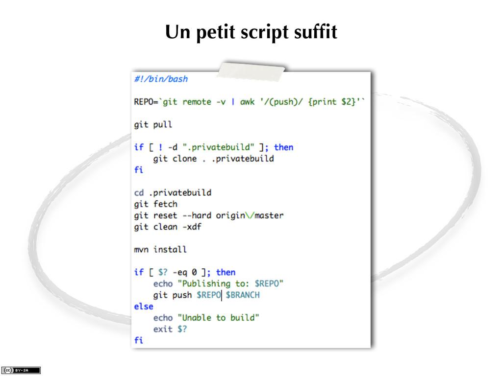 Un petit script suffit