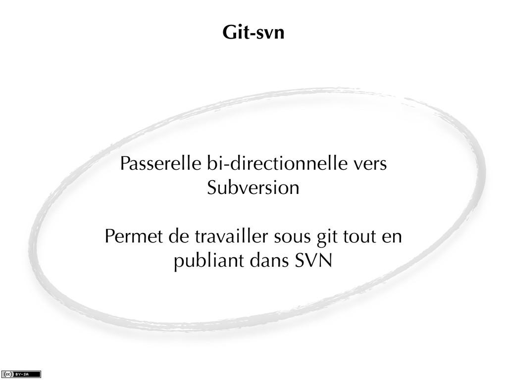 Passerelle bi-directionnelle vers Subversion Pe...