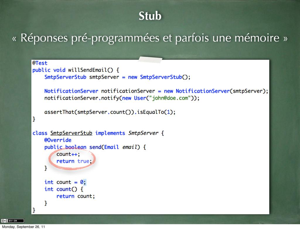 Stub « Réponses pré-programmées et parfois une ...