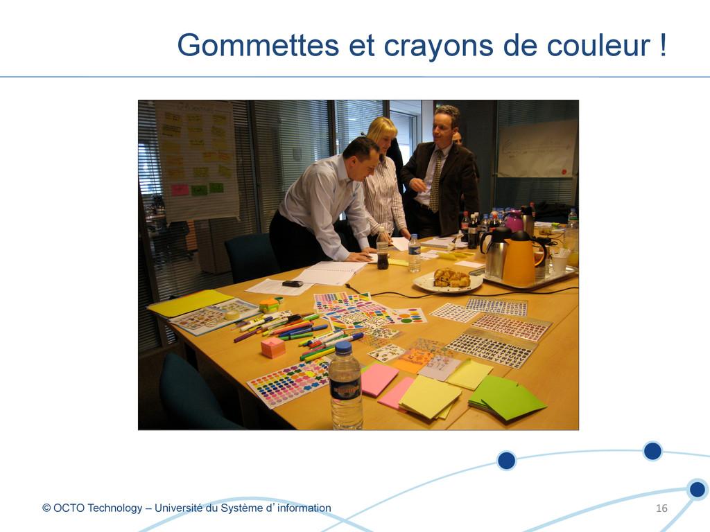 Gommettes et crayons de couleur ! © OCTO Techno...
