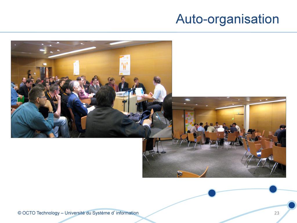 Auto-organisation © OCTO Technology – Universit...