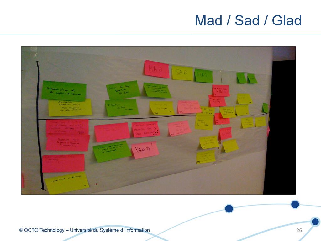 Mad / Sad / Glad © OCTO Technology – Université...
