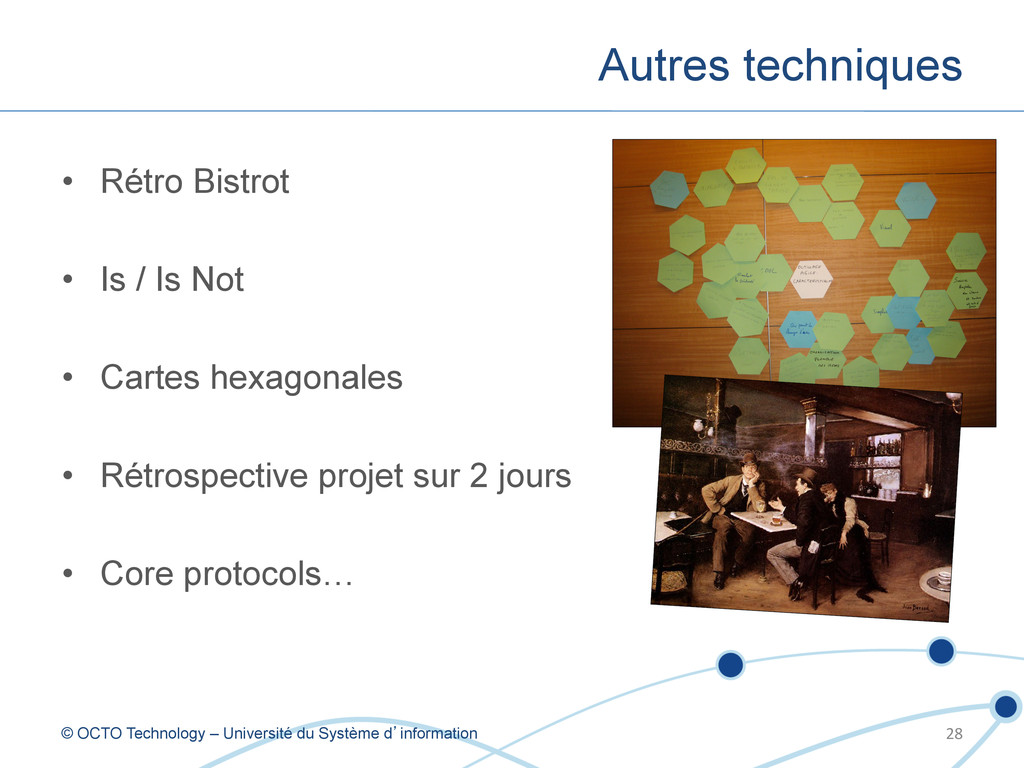 • Rétro Bistrot • Is / Is Not • Cartes hexag...