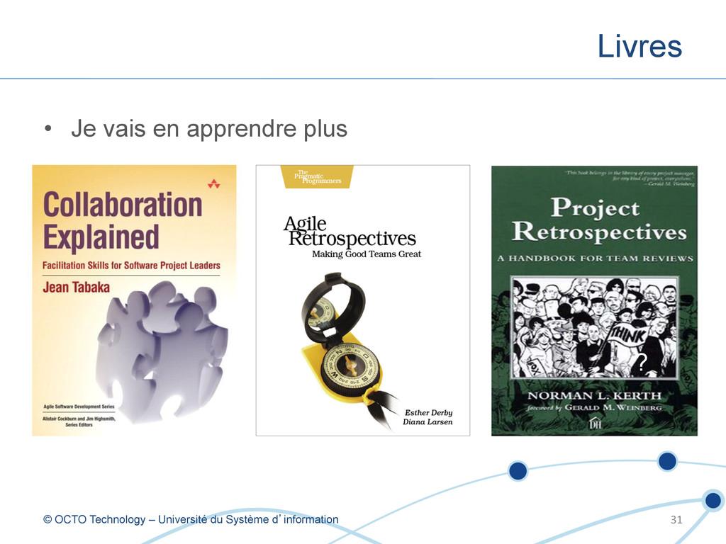 Livres © OCTO Technology – Université du Systèm...