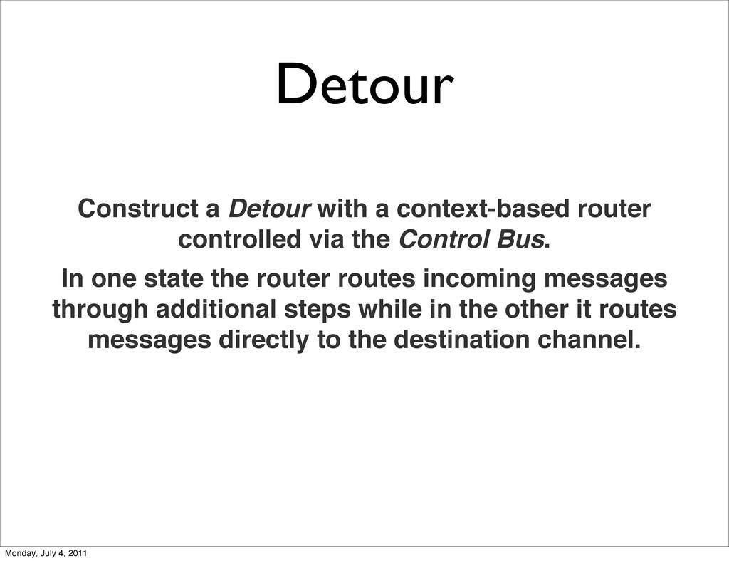 Detour Construct a Detour with a context-based ...