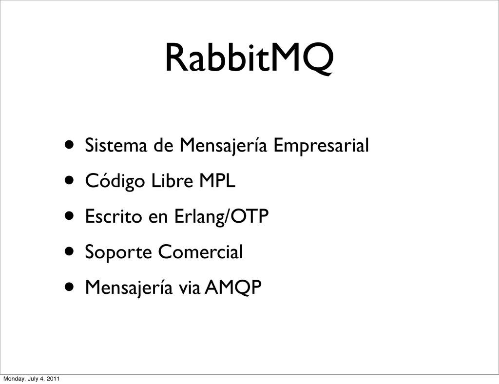 RabbitMQ • Sistema de Mensajería Empresarial • ...
