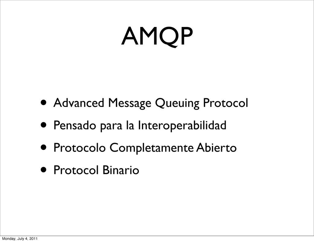 AMQP • Advanced Message Queuing Protocol • Pens...