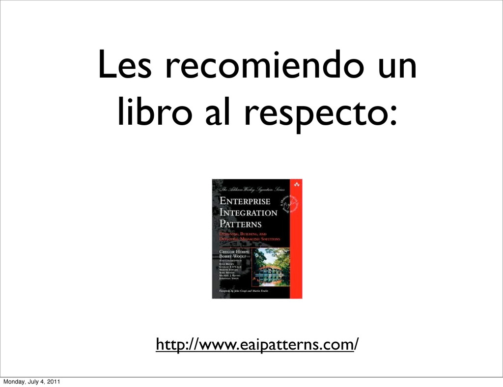 Les recomiendo un libro al respecto: http://www...