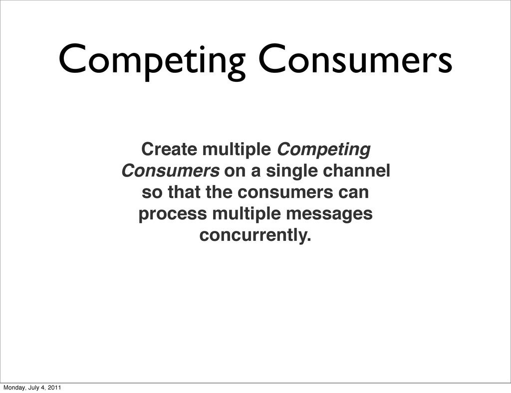 Competing Consumers Create multiple Competing C...