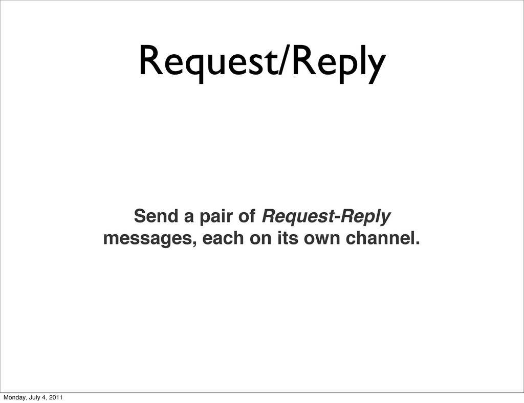 Request/Reply Send a pair of Request-Reply mess...
