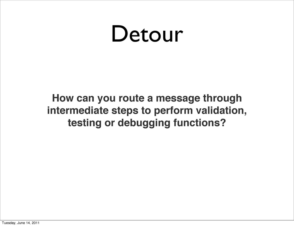 Detour How can you route a message through inte...