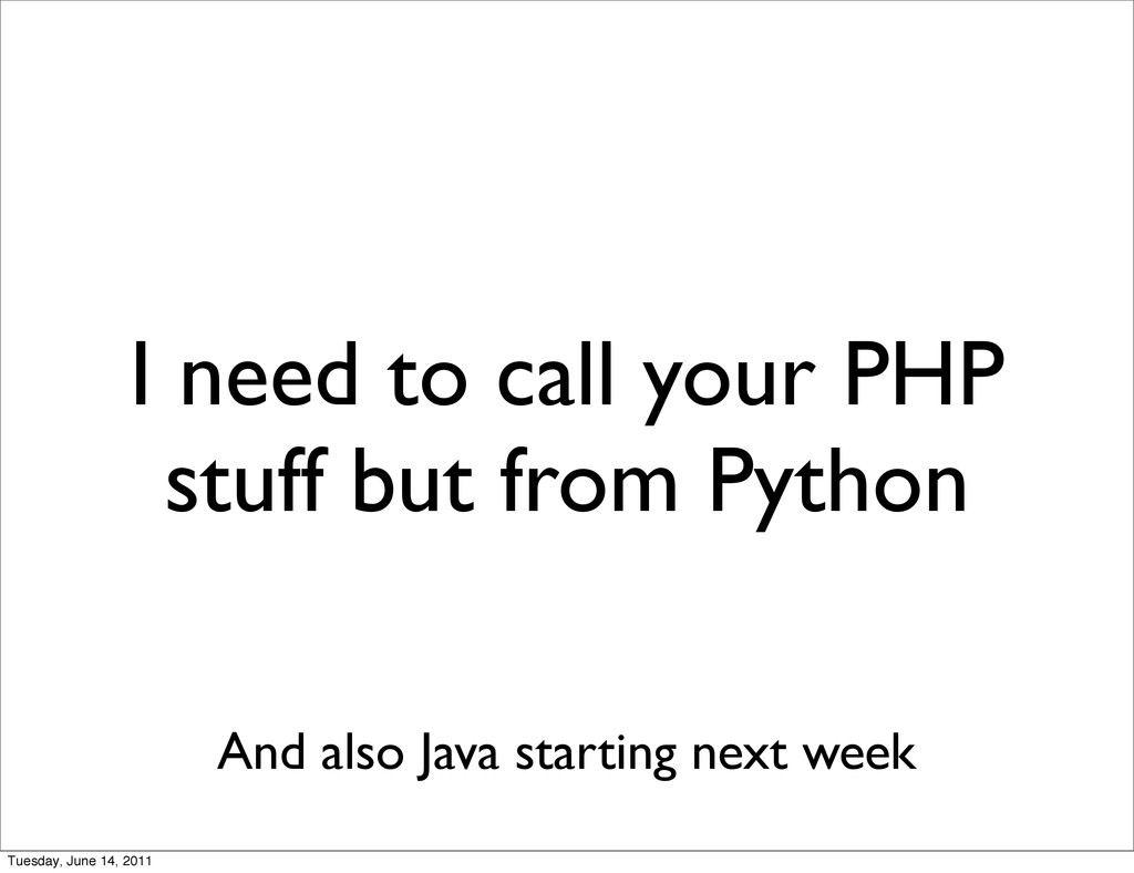 I need to call your PHP stuff but from Python A...