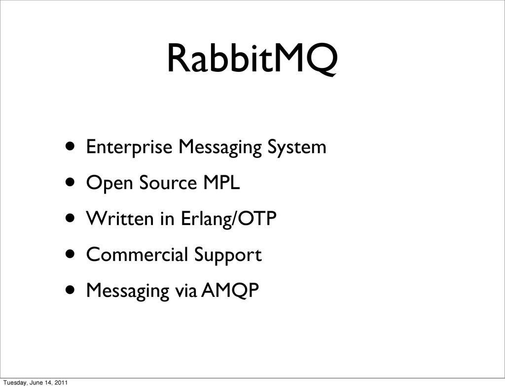 RabbitMQ • Enterprise Messaging System • Open S...