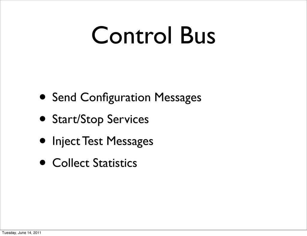 Control Bus • Send Configuration Messages • Star...