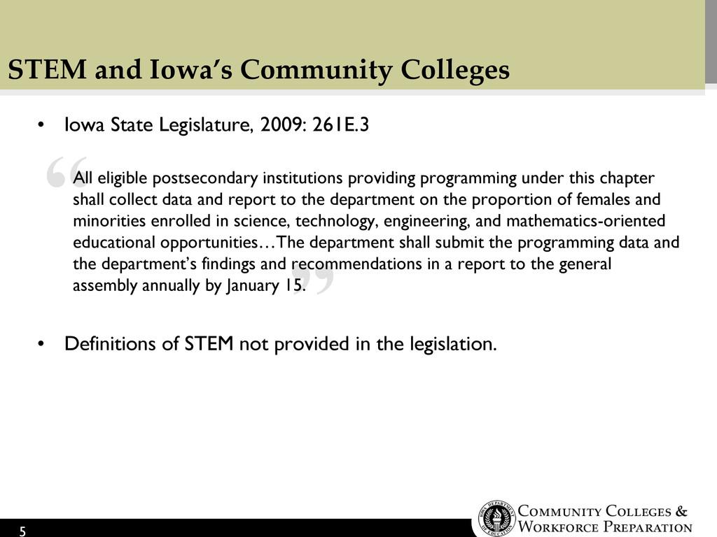 """ "" STEM and Iowa's Community Colleges • Iowa S..."