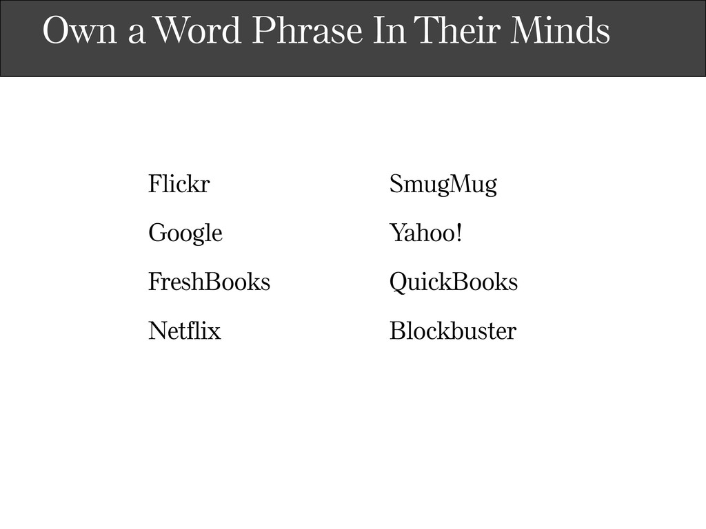 Own a Word Phrase In Their Minds Flickr Google ...