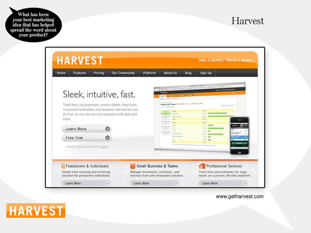 Harvest www.getharvest.com