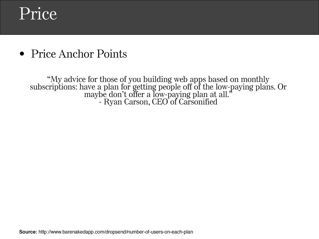 """Price • Price Anchor Points """"My advice for thos..."""