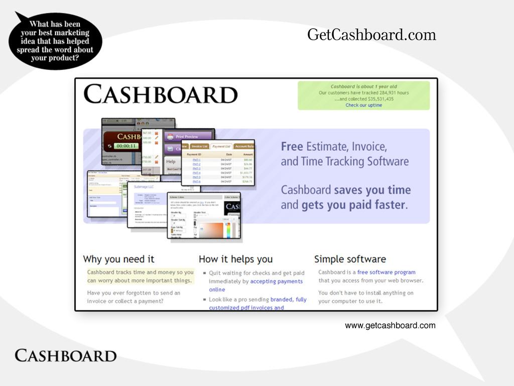 GetCashboard.com www.getcashboard.com
