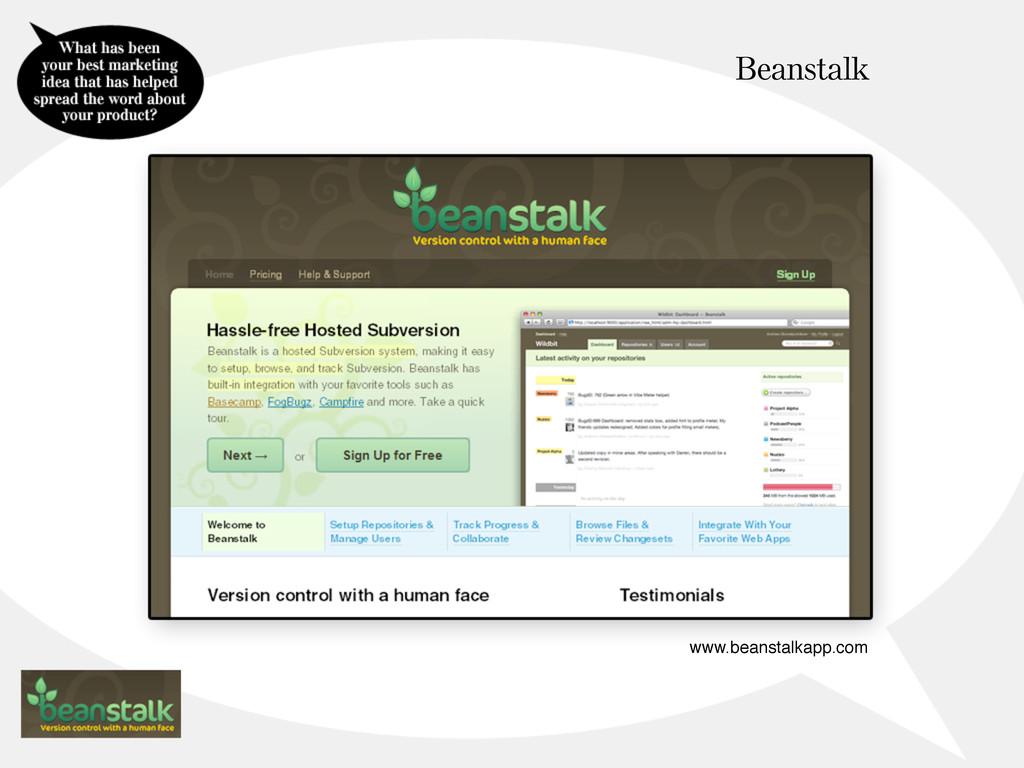 Beanstalk www.beanstalkapp.com