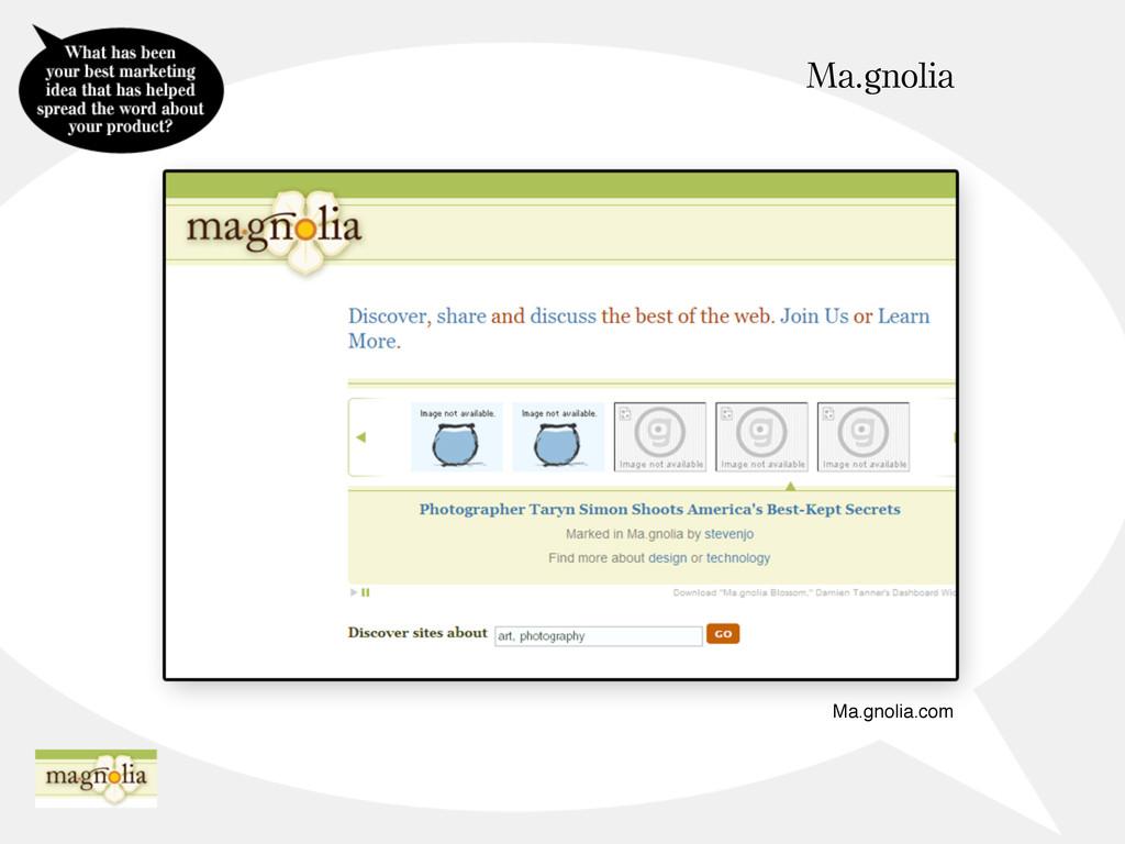 Ma.gnolia Ma.gnolia.com