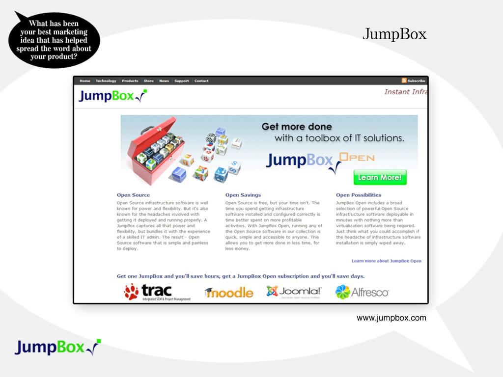 JumpBox www.jumpbox.com