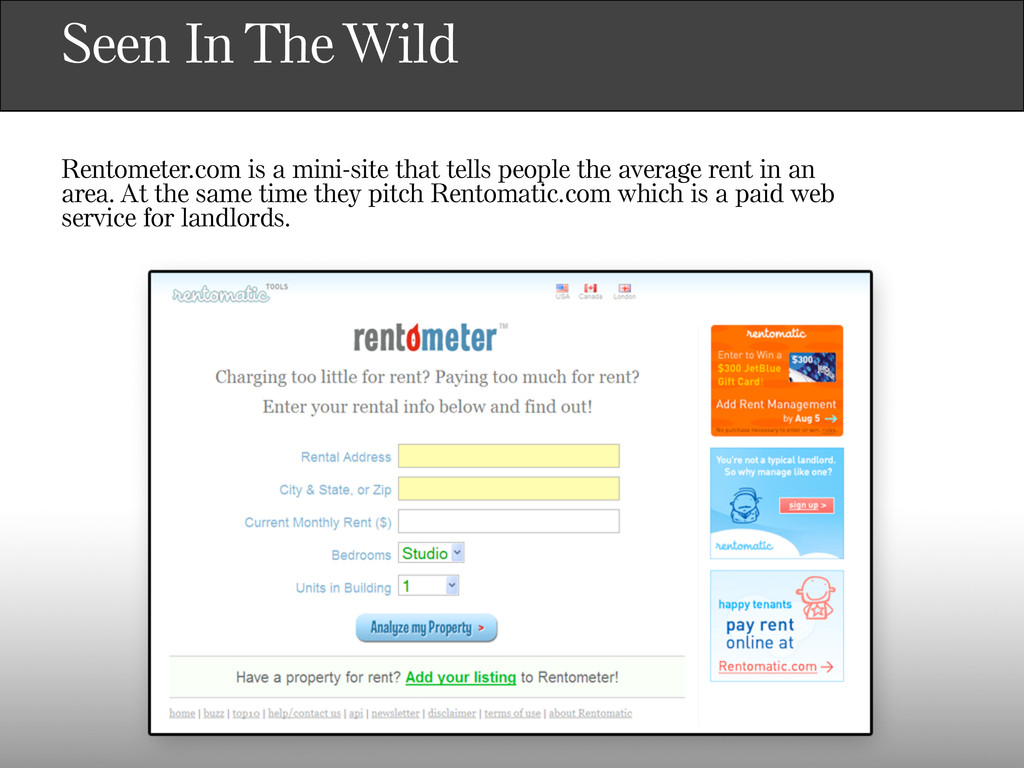 Seen In The Wild Rentometer.com is a mini-site ...