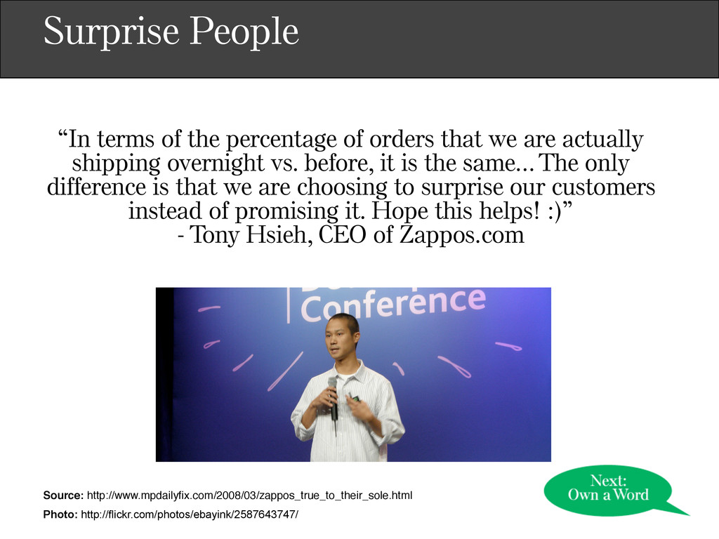"""Surprise People """"In terms of the percentage of ..."""