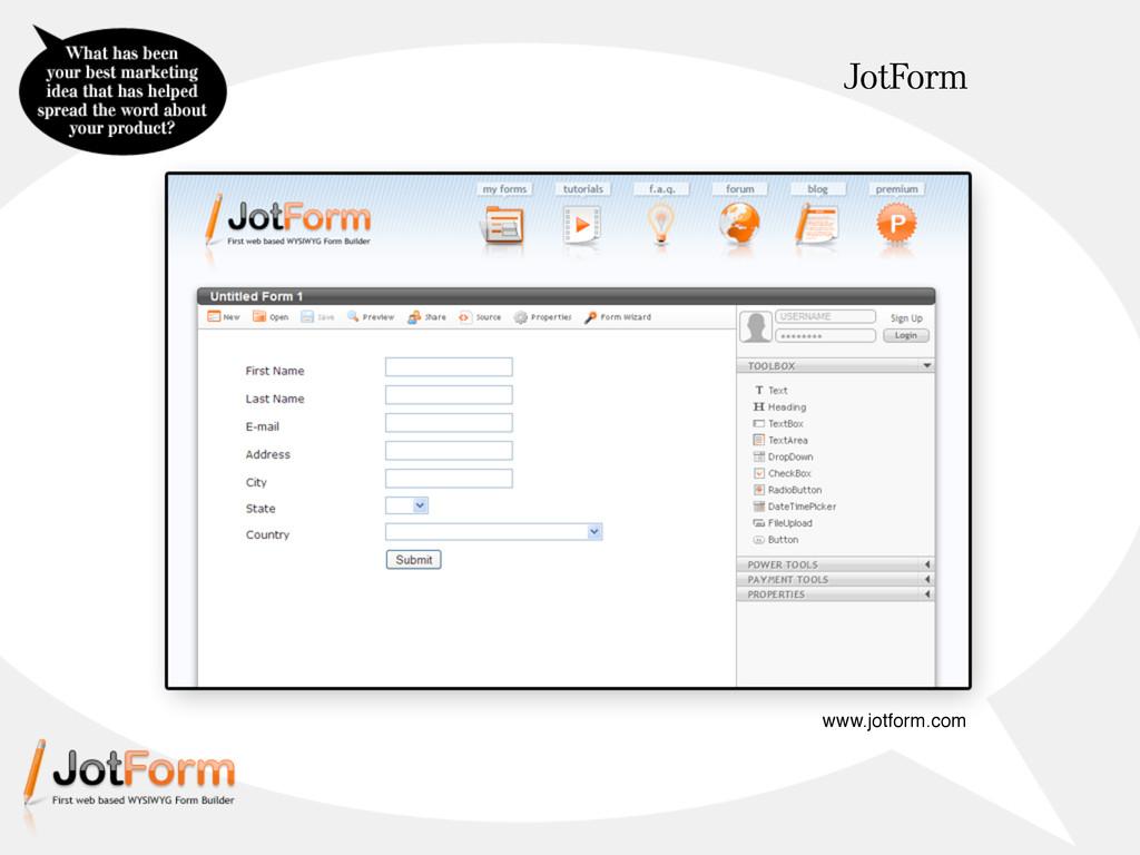 JotForm www.jotform.com