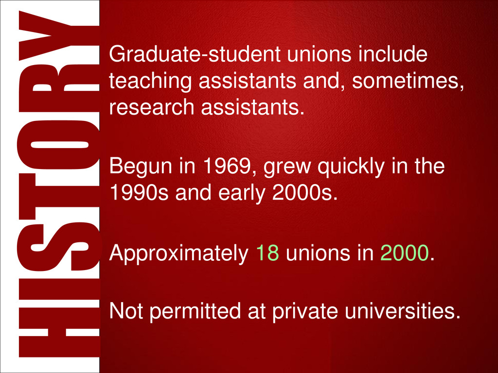 Graduate-student unions include teaching assist...