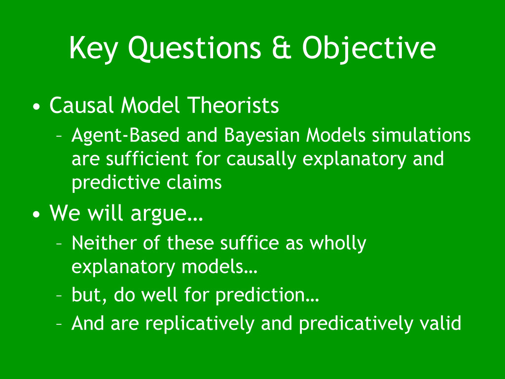 Key Questions & Objective • Causal Model Theori...