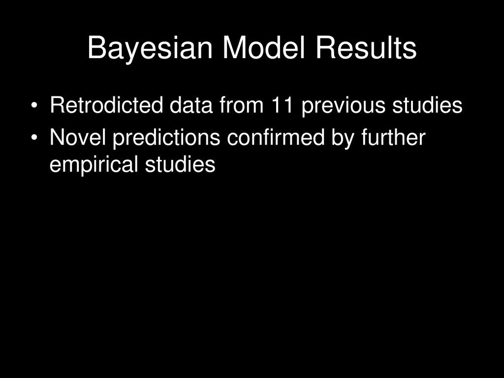 Bayesian Model Results • Retrodicted data from ...