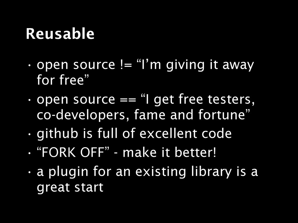"""Reusable • open source != """"I'm giving it away f..."""